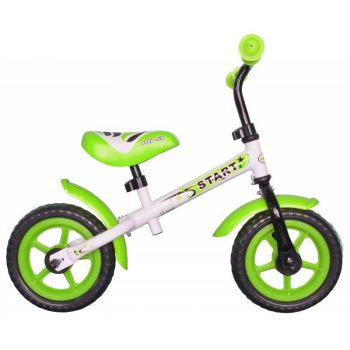 Baby Mix zöld-fehér futóbicikli - kézifékes