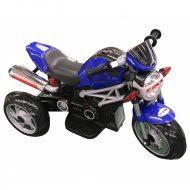 Háromkerekű elektromos sportmotor kék színben