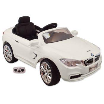 Elektromos fehér BMW távirányítóval