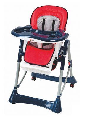 Mama Kiddies Star kék-piros multifunkciós etetőszék + Ajándék