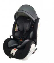 ISOFIX-es 360°-ban forgatható Mama Kiddies Rotary biztonsági autósülés (0-36 kg) fekete-sötétszürke színben + ajándékok