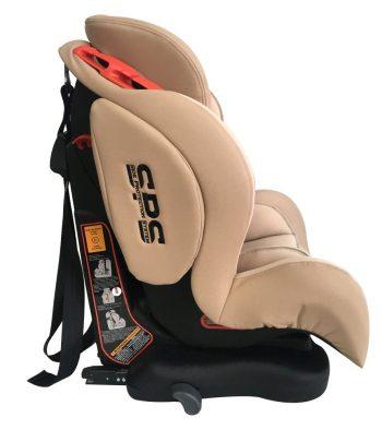 ISOFIX-es Mama Kiddies Universe biztonsági autósülés (9-36 kg) bézs színben