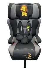 Mama Kiddies Turbo autósülés (9-36 kg) szürke-fekete színben (safari edition) + ajándék