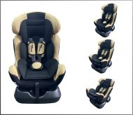 MamaKiddies Safety Star autósülés (0-25 kg) bézs színben