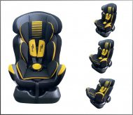 Mama Kiddies Safety Star autósülés (0-25 kg) sárga-szürke színben